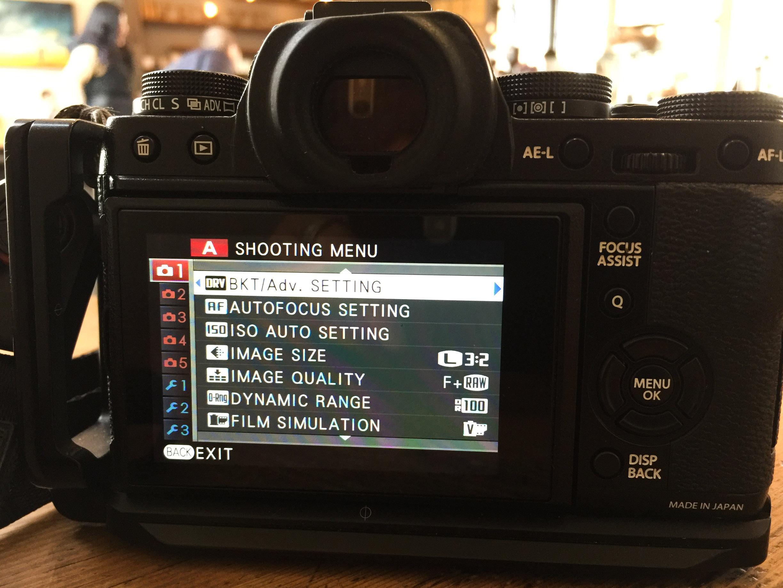 Fujifilm X-T1 back