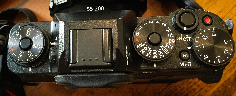Fujifilm X-T1 top